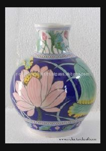 Hand Painted Gift Home Decor Art Gallery Indian Blue Pottery