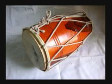 India Musical Instrument Dholak Drum Rope Tuned Dholki Dhol