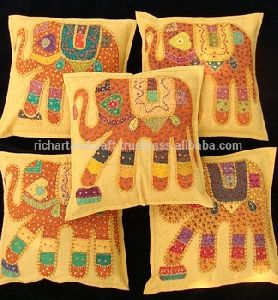 PATCHWORK DECORATIVE PILLOW CUSHION COVER