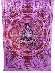 Purple Budha Wall Hanging Tapestry