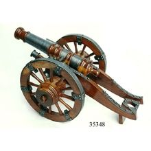 Handcrafted Wooden Cannon Replica