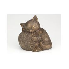 cat sculpture cremation urns