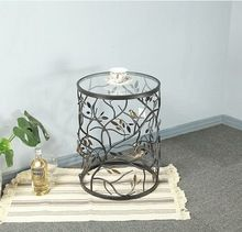 Decorative Leaf Design Casual Side Table