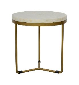 Brass Round Side Table