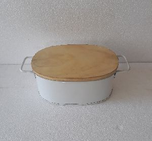 Bread Box With Wooden lid