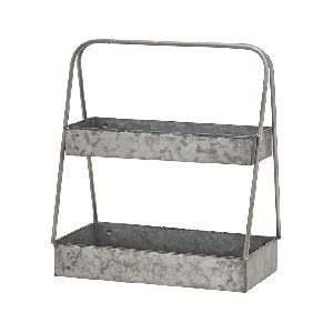 Galvanized Rectangle Shape Tiered Tray