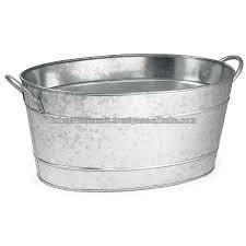 Metal Oval Party Tub