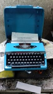 Brother Blue Portable Typewriter
