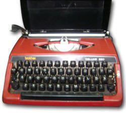 Brother Red Portable Typewriter