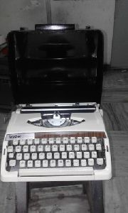Brother White Portable Typewriter