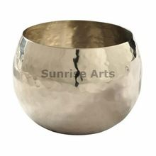Brass Napkin Ring With Nickle Plated