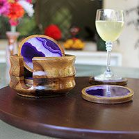 Agate Druzy Coasters For Table Decoration