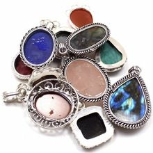 Mix Stones Silver Plating Nickel Pendants