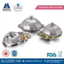 Pentagon Serving Dish With Cover
