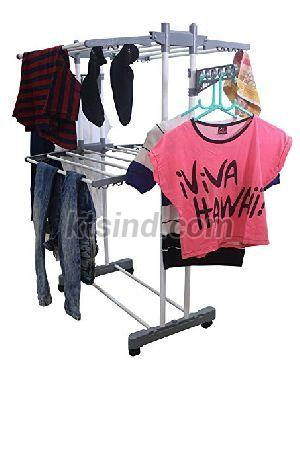 Double Pole 2 Tier Cloth Drying Stand