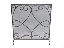 fire place screens with door