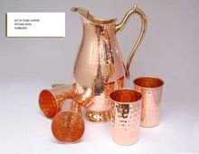COPPER WATER DRINKING PITCHER