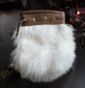 Rabbit Fur Coin Purse