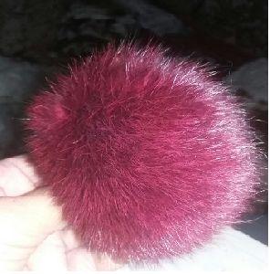 Rabbit Fur Pom Poms