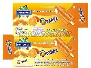 Orange Ice Cream Box