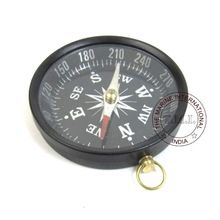ANTIQUE ALUMINIUM POCKET COMPASS
