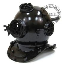 BLACK ANTIQUE DIVER'S HELMET
