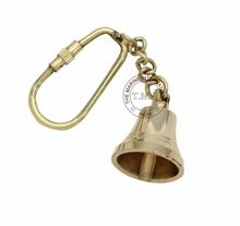 Brass Key Chain Ship Bell
