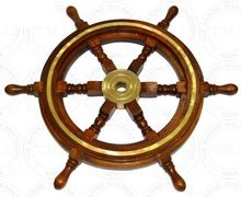 Marine Wooden Steering Ship Wheel