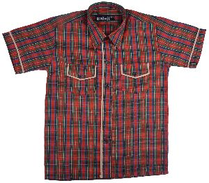 DAV Red Check Shirt