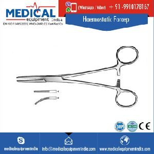 Stainless Steel Straight and Curved Teeth Haemostatic Forcep