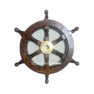 12 inch Wooden Ship Wheel