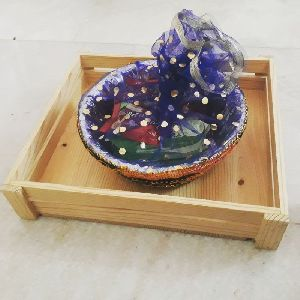 Wooden Gift Basket