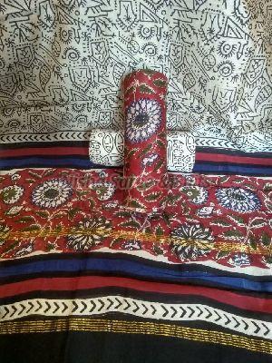 Chanderi Cotton Unstitched Suit 07