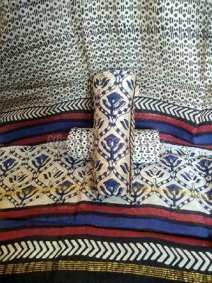 Chanderi Cotton Unstitched Suit 08