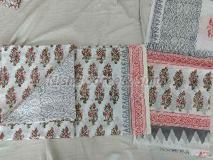 Jaipuri Cotton Unstitched Suit 40