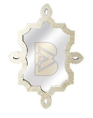 Bone Inlay Bohemian White Mirror