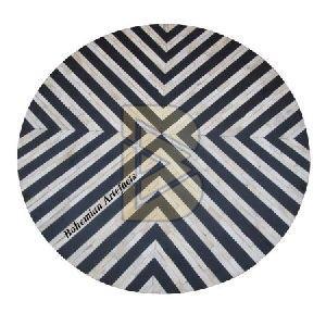 Bone Inlay Chevron Design Black Coffee Table 03