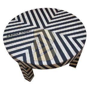 Bone Inlay Chevron Design Black Coffee Table 04