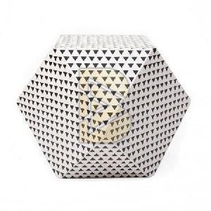 Bone Inlay Diamond Shape White End & Side Tables