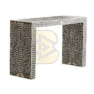 Bone Inlay Floral Design Console Tables