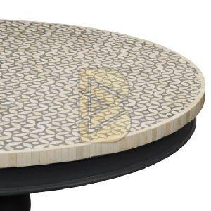 Bone Inlay Geometric Design Gray Coffee Table 02