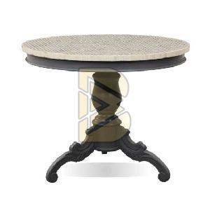 Bone Inlay Geometric Design Gray Coffee Tables
