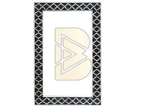Bone Inlay Star Design Black Mirror