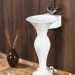 White Dolphin Wash Basin Set