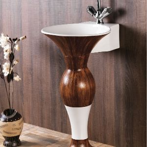 Wooden Dolphin Wash Basin Set