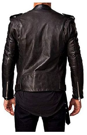 Mens Lambskin Black Leather Jacket 02