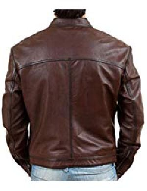 Mens Retro Brown Leather Jacket 02