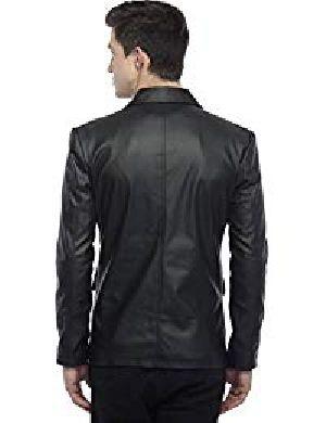 Mens Lambskin Leather Blazer Jacket 02