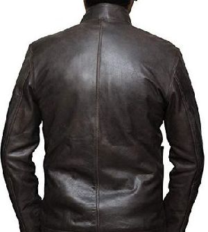 Mens Vintage Lambskin Black Leather Jacket 02