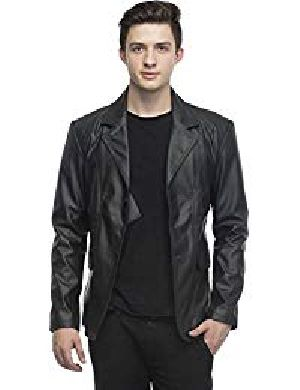 Mens Lambskin Leather Blazer Jacket 01